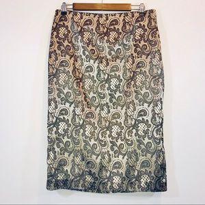 NY&Co. Metallic Lace Pencil Skirt - #1228